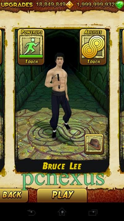 bruce lee in temple run 2