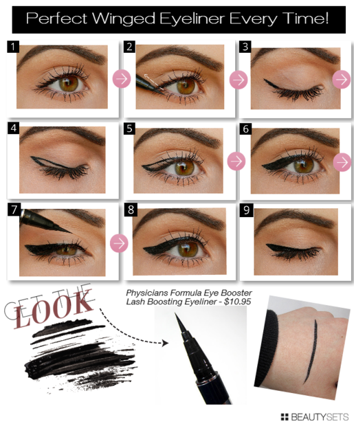 Sexy eyeliner application