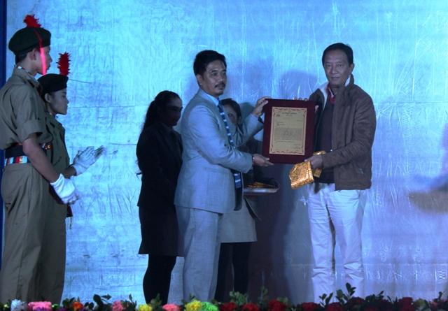 Binay Tamang in Ghoom Jorbunglow college 15 foundation day
