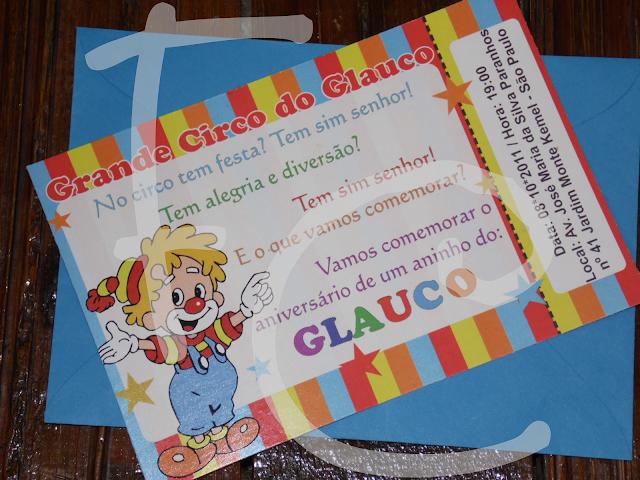 Convite Padrão - Tema: Circo