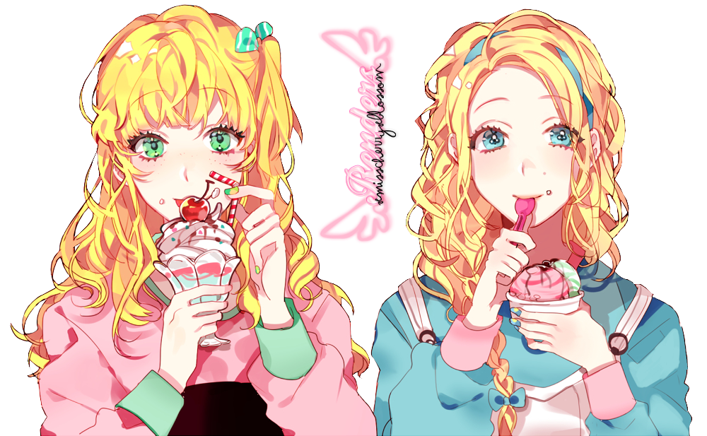 render Girls Ice Cream