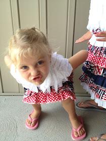Sill Face Ruffle Fabric Skirt and Shirt