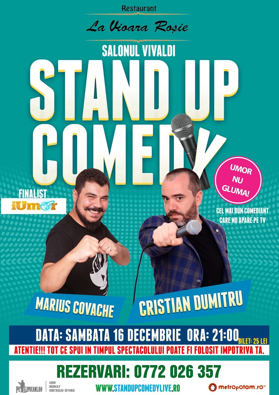 Stand-Up Comedy Bucuresti Sambata 16 Decembrie Bucuresti