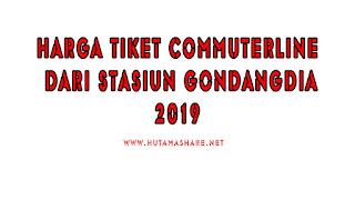 Harga Tiket Commuterline Dari Stasiun Gondangdia Terbaru 2019