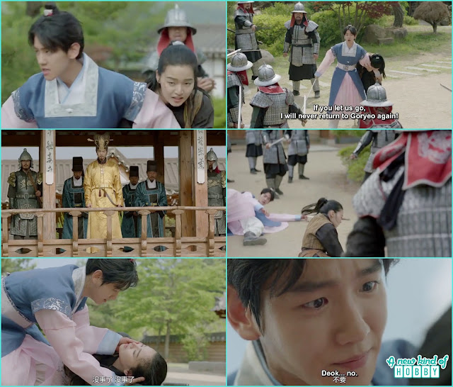 while fighting the royal guards sun duk died  - Moon Lovers Scarlet Heart Ryeo - Episode 16 Review (Eng Sub)