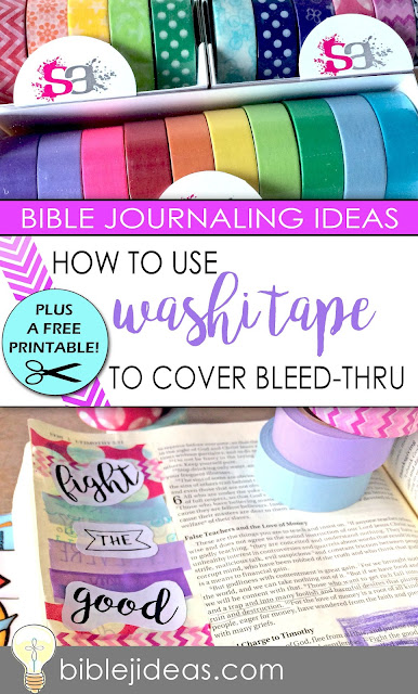 Washi tape in your Bible journaling