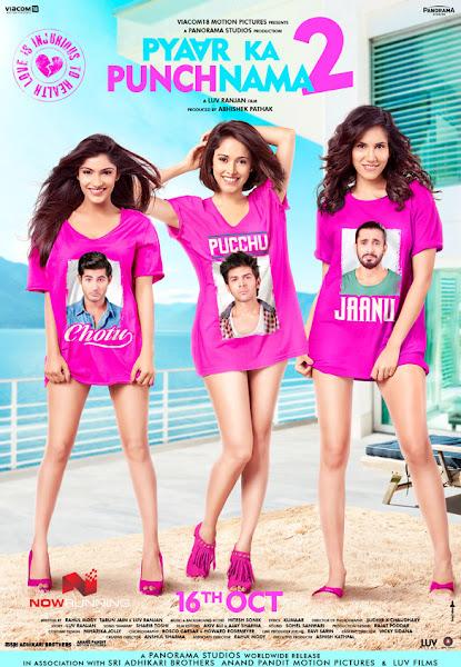 Poster of Pyaar Ka Punchnama 2 (2015) Full Hindi Movie 720p HDRip ESubs Download
