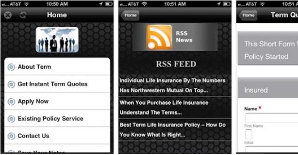 Term Life Insurance App