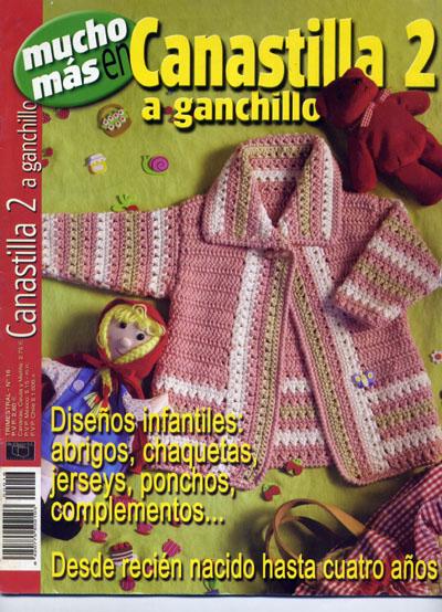 Revista Canastilla A Ganchillo -Revista Enxoval Em Crochê