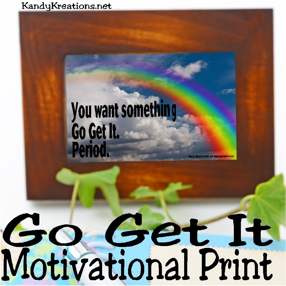 """You want something, go get it. Period."" Get this inspirational quote in a free printable."