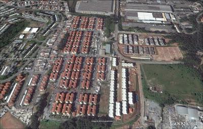 CDHU Voith, no bairro Jaraguá. Imagem: Google Earth