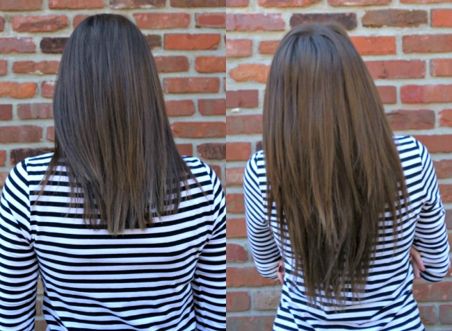 Irresistible Me Hair Extensions Before & After