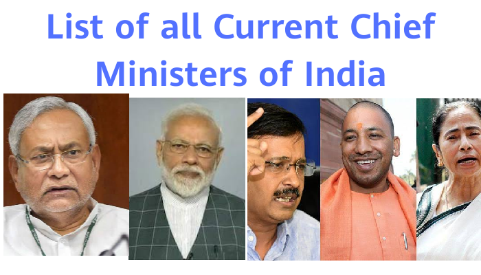 List Of All Current Chief Minister of India: State-wise List
