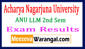 ANU LLM 2nd Sem Exam Results 2017