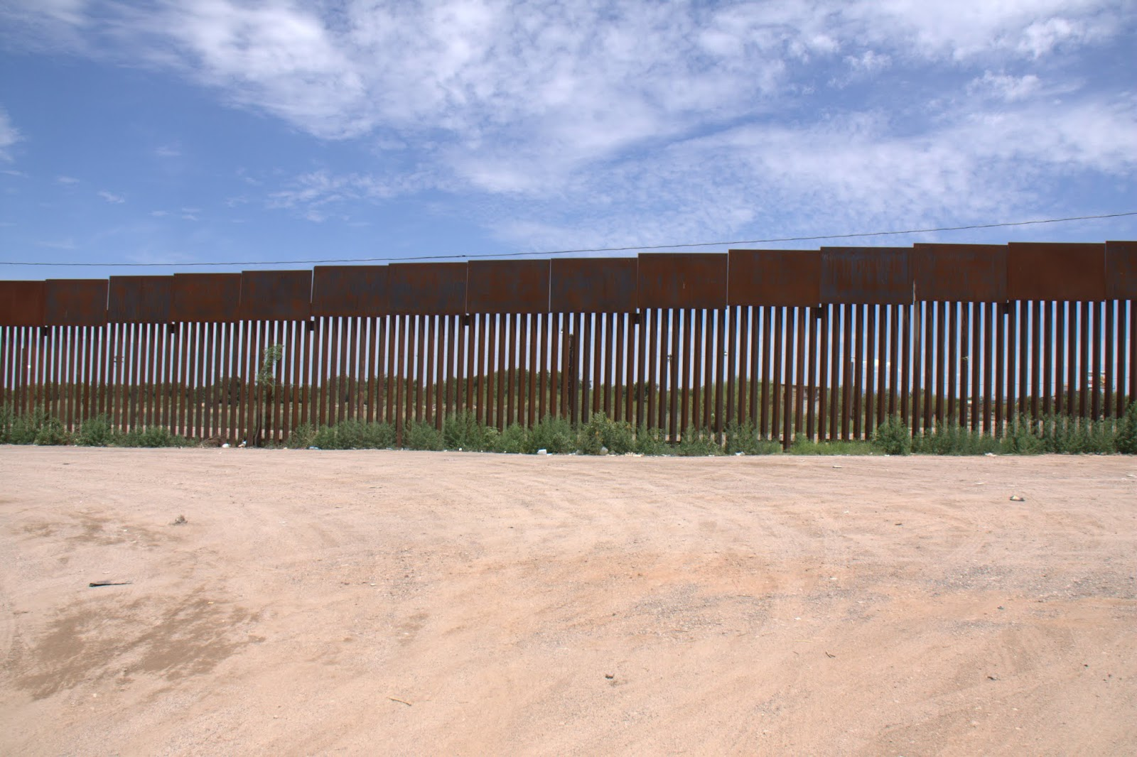 View of the US from Mexico.  Welcome to America!