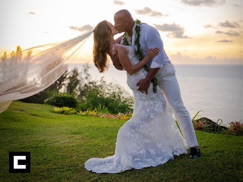 "Fotos: Dwayne Johnson ""The Rock"" y Lauren Hashian se casan en Hawaii"