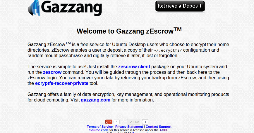 From the Canyon Edge: Introducing zEscrow -- or, How to save your