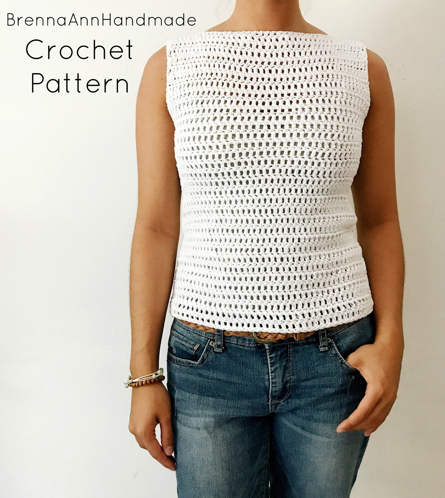 Brenna Ann Handmade: NEW Crochet Pattern - The Simple Spring Crochet Top