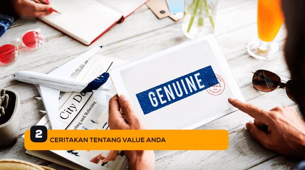 2. Ceritakan Tentang Value Anda