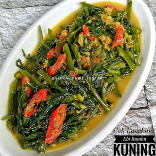 Ide Resep Masak Cah Kangkung Ebi Bumbu Kuning