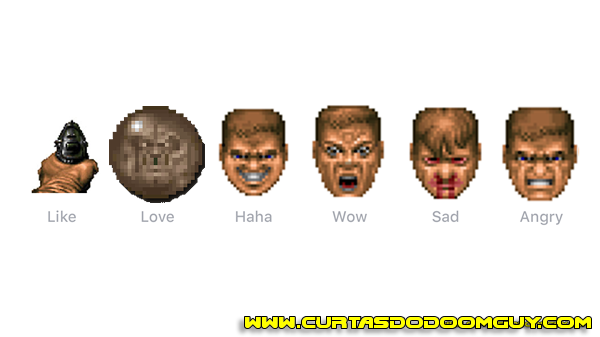 Novas reações do Facebook