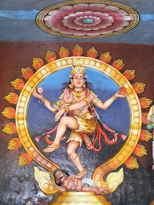 A statue of Shiva.
