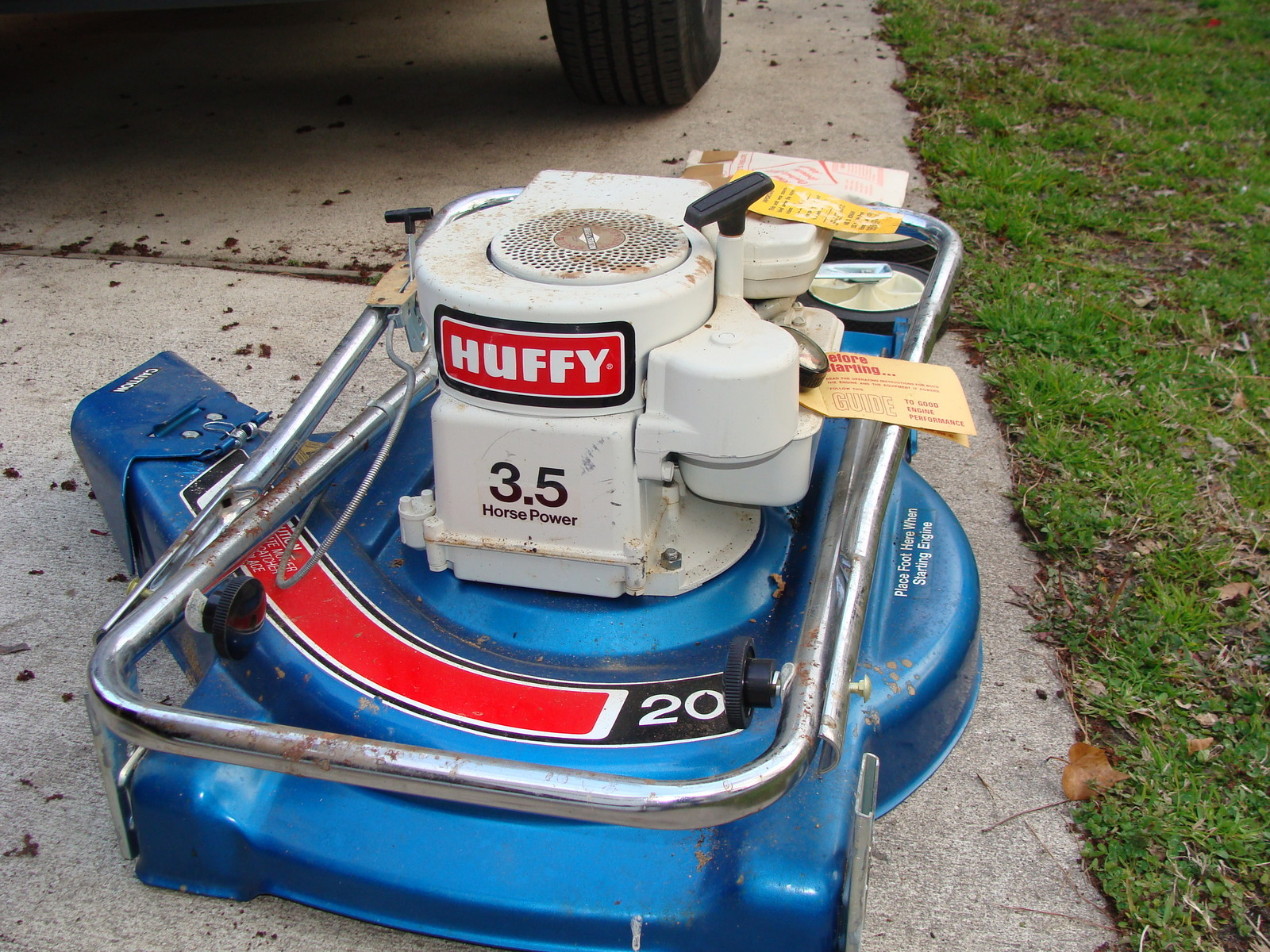 Huskee 16 5hp riding Mower Manual