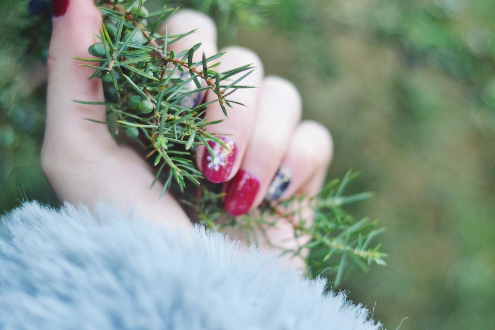paznokcie w zimowym stylu