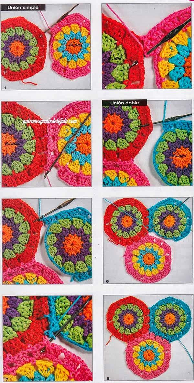 Cómo tejer un hexágono granny crochet paso a paso | Paso a Paso