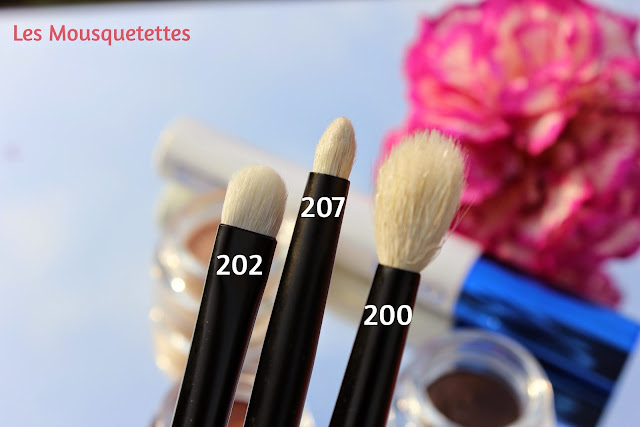 Pinceaux Makeup Kiko N° 202, 200 et 207 - Les Mousquetettes©