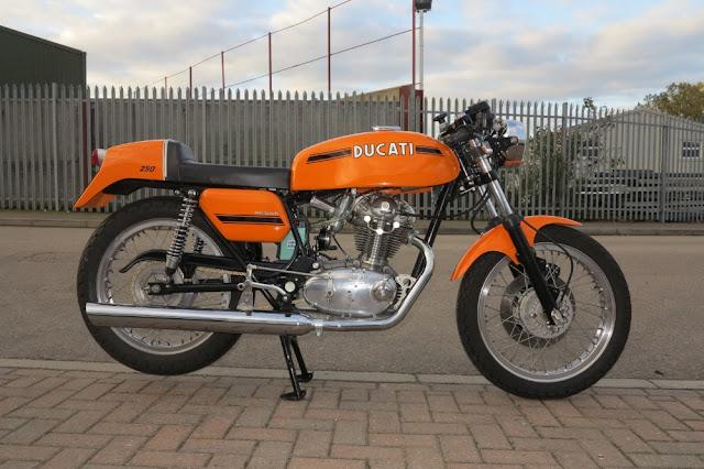 Ducati 250 Desmo 1970s Italian classic motorbike