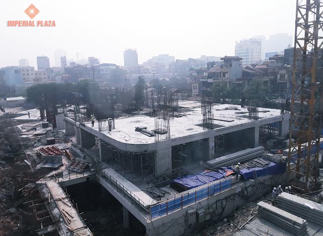 Tiến độ xây dựng chung cư 360 Giải Phóng