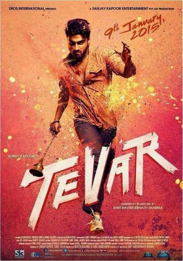 Arjun Kapoor in Gulal Poster of Tevar Movie 2015