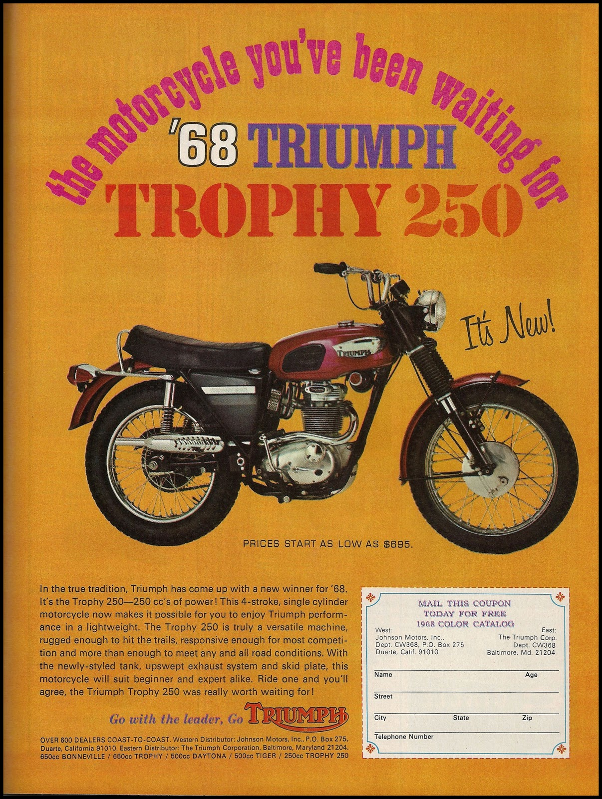 motorcycle triumph ads magazine classic motorcycles motoblogn cycle waiting been 1968 ad advertisements ve american custom