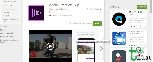 Phần mềm chỉnh sửa Video Adobe Premier Clip