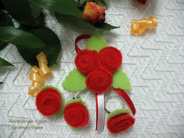 Комплект Красные розы