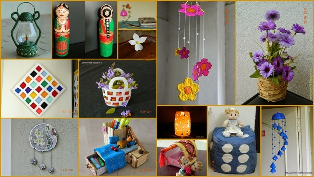 Yellow craft for Recycle and redesign ideas