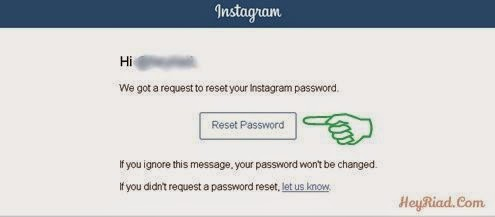 Rest password instagram yang lupa