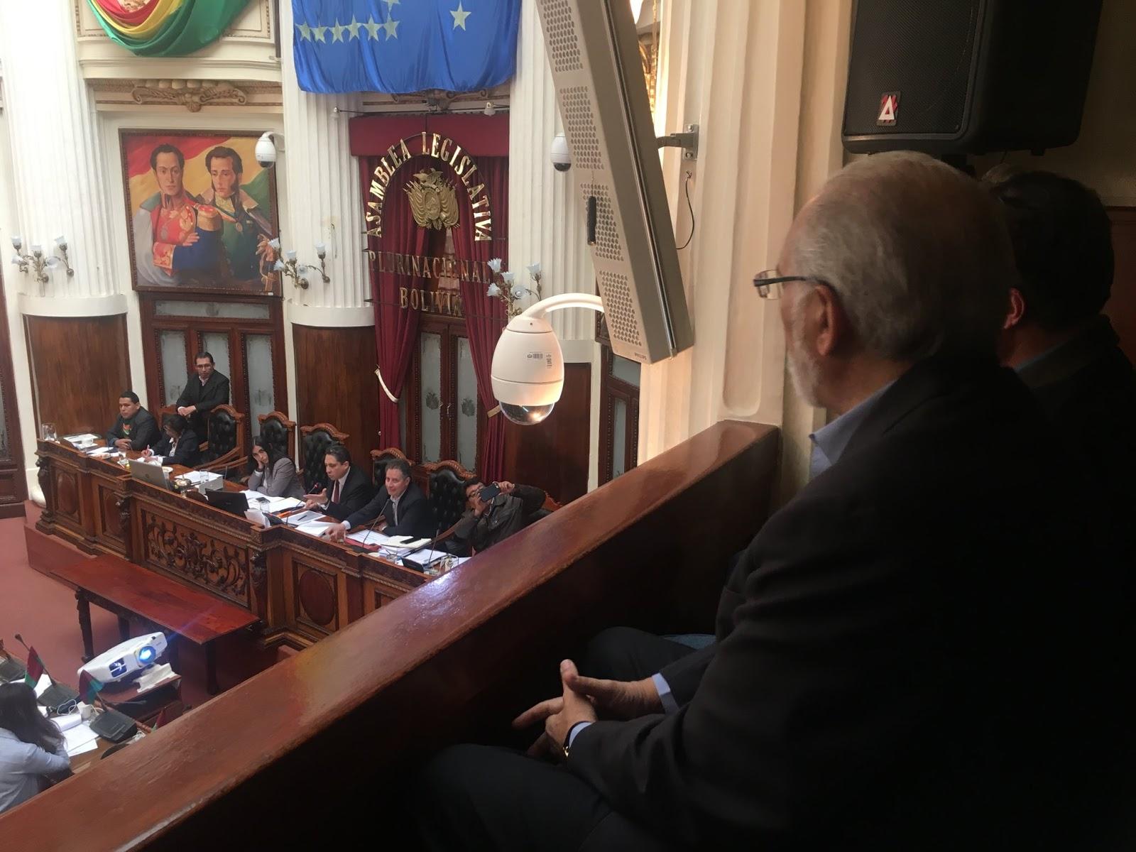 Mesa asistió la pasada semana a la interpelación oficialista de dos ministros / TWITTER