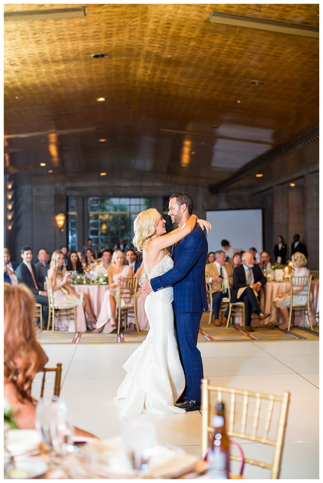 bride and groom first dance at Arizona Biltmore