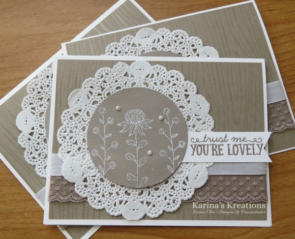 Karina's Kreations: Stampin'Up Flowering Fields Card!