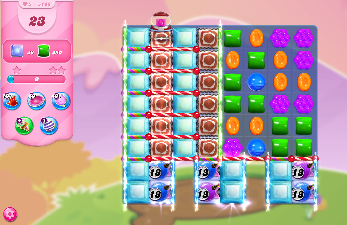 Candy Crush Saga level 5122