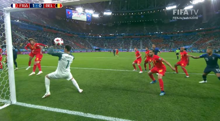 El solitario gol de Francia con el cabezazo de Umtiti / FIFA TV