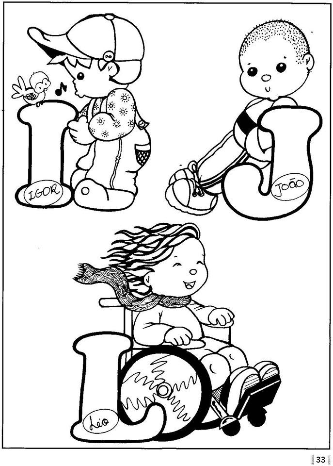 Alfabeto nombres de niños
