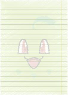 Papel Pautado do Chikorita Pokemon rabiscado PDF para imprimir na folha A4