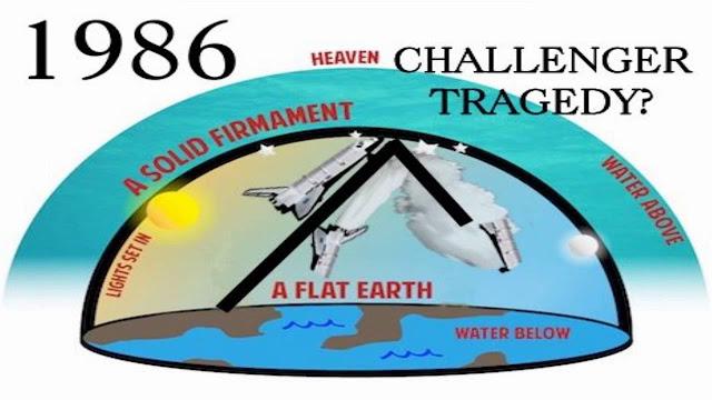 Ilustração sobre a possível causa do acidente com a Challenger
