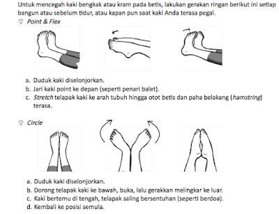 senaman khas untuk tapak kaki agar membantu mengelakkan kekejangan kaki