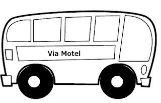 motel, onibus, transporte urbano
