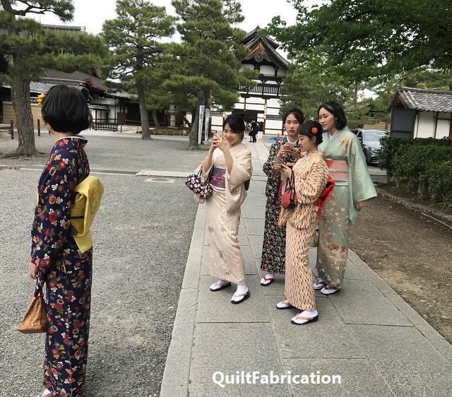 tourists in kimono