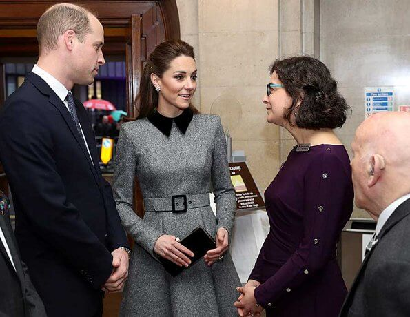 The Duchess wore a dress by Catherine Walker. Kate Middleton wore Catherine Walker dress for the UK's Holocaust Memorial Day Ceremony